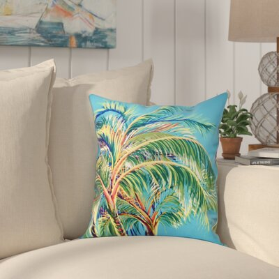 Granata Vacation Floral Throw Pillow Size: 16 H x 16 W, Color: Turquoise
