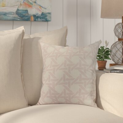 Cawley Rattan Geometric Print Indoor/Outdoor Throw Pillow Color: Pink, Size: 16 x 16