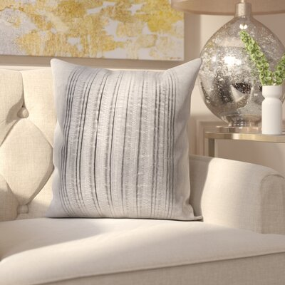 Burlington Elegant Pleated Throw Pillow Color: Gray, Size: 18 H x 18 W x 0.25 D, Type/Fill: Cover
