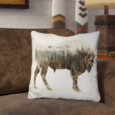 Leonel Bison Throw Pillow