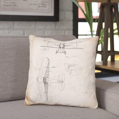 Chatman W D Clark Plane Throw Pillow Color: Beige