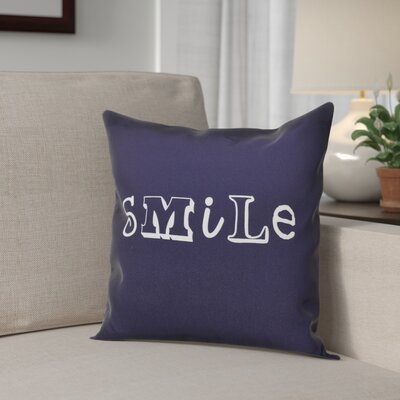 Scotland Happy Smile Throw Pillow Size: 26 H x 26 W, Color: Navy Blue