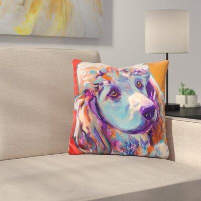 Poodle Bonnie Throw Pillow