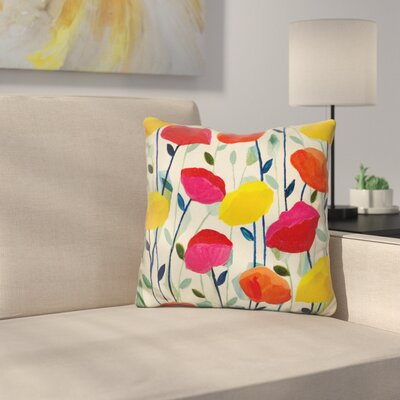 Appels Cheerful Poppies Throw Pillow