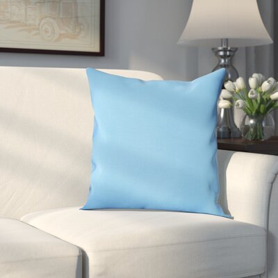 Georgia Outdoor Throw Pillow Color: Cerulean Blue, Size: 16 H x 16 W x 1 D