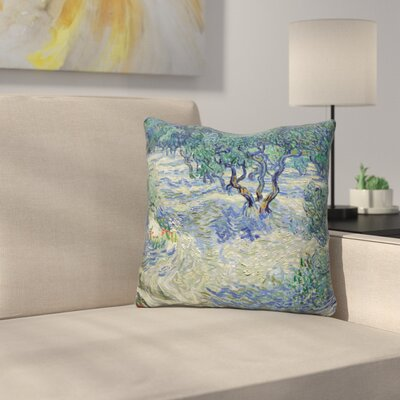 Olive Orchard Throw Pillow