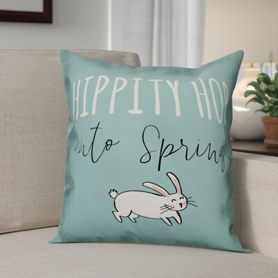 Betton Hippity Hop Into Spring Throw Pillow
