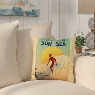Candlewood A Symphony of Sun and Sea Throw Pillow