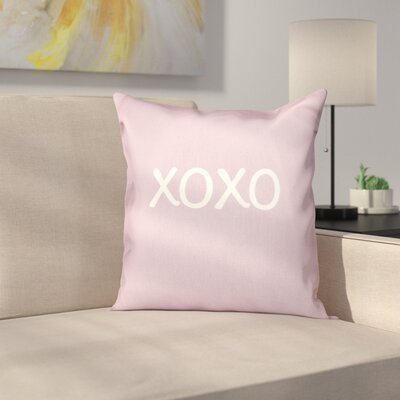 Forest River XOXO Throw Pillow Size: 18 H x 18 W, Color: Lavender