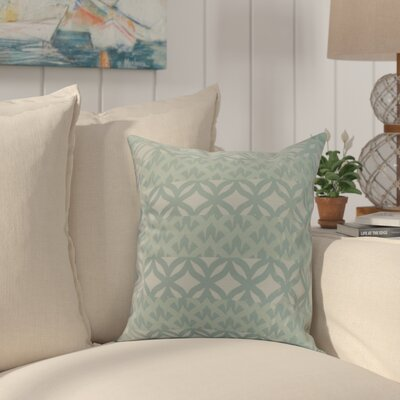 Crider Simple Geometric Print Indoor/Outdoor Throw Pillow Color: Aqua, Size: 16 x 16