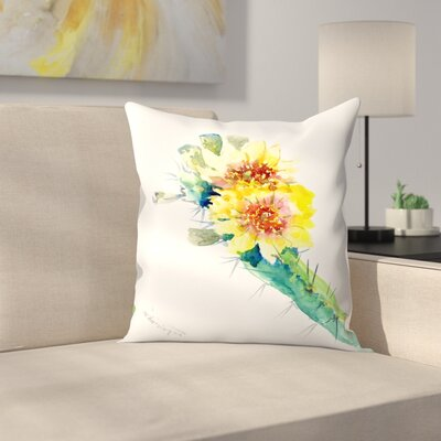 Cactus Throw Pillow Size: 18 x 18