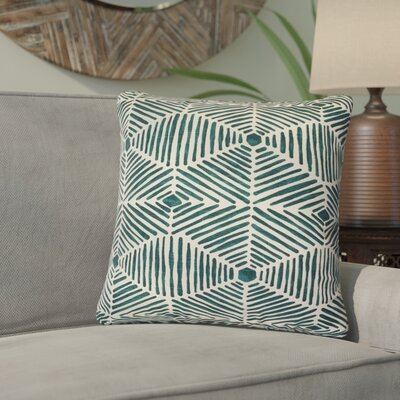 Tricia Geometric Cotton Throw Pillow Color: Blue