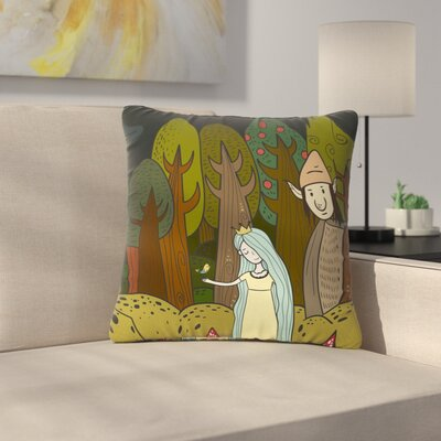 Petit Griffin Enchanted Forest Outdoor Throw Pillow Size: 18 H x 18 W x 5 D