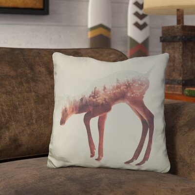 Leonidas the Deer Norwegian Woods Throw Pillow