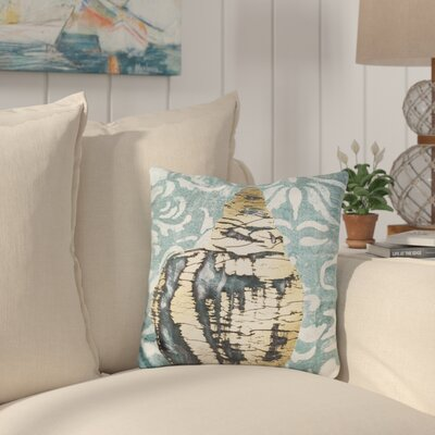 Burris Gilded Solitary Shell Throw Pillow