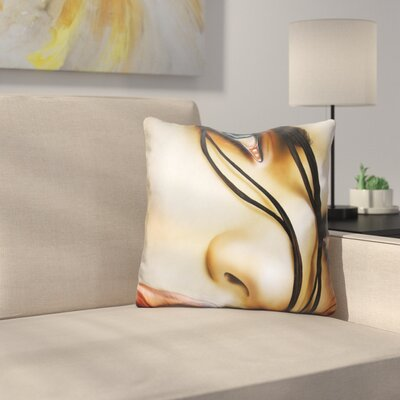 Electric Sunrise Throw Pillow