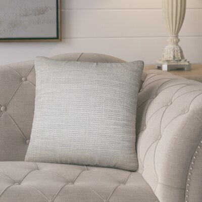 Tiffany Weave Cotton Throw Pillow Color: Stone