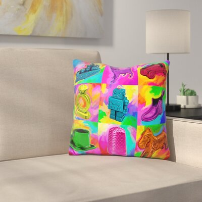 Monopoly Pieces Throw Pillow
