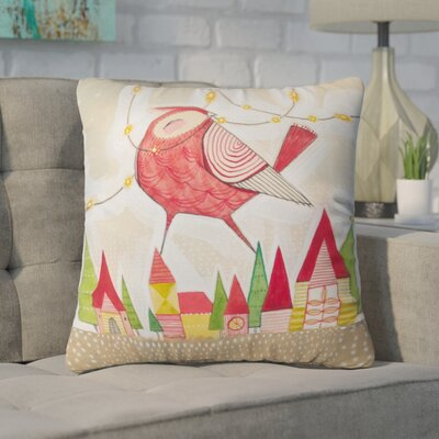 Donmoyer New Bird In Town Throw Pillow Size: 20 H x 20 W x 6 D