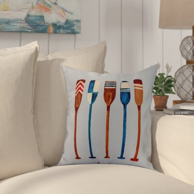 Crider Oar Multi Painted Print Indoor/Outdoor Throw Pillow Color: Blue, Size: 18 x 18