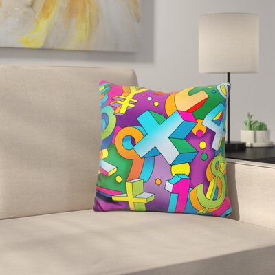 Math Mural Throw Pillow