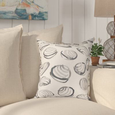 Cedarville Clams Geometric Print Outdoor Throw Pillow Size: 18 H x 18 W, Color: Gray