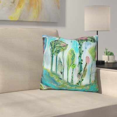 Bourassa Surrender to the River of Your Life Throw Pillow