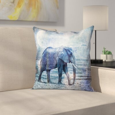 Elephant Kopie Throw Pillow Size: 18 x 18