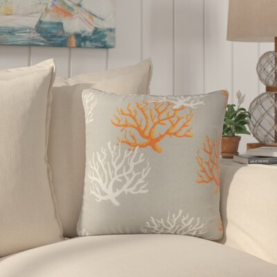Fletcher Coastal Throw Pillow Color: Gray