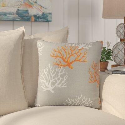 Fletcher Coastal Throw Pillow Color: Gray