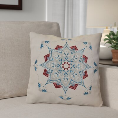 Aneesh Throw Pillow Size: 18 H x 18 W, Color: Teal/Red