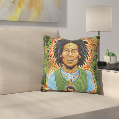 Bob Marley Roots Throw Pillow