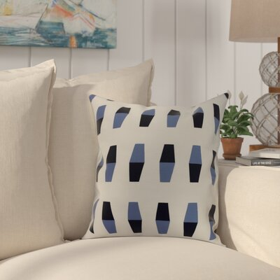 Crider Bowling Pins Geometric Print Indoor/Outdoor Throw Pillow Color: Navy Blue, Size: 20 x 20