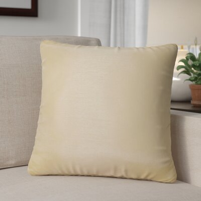 Kiera Square Throw Pillow Color: Peach
