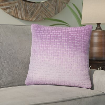 Karen Solid Throw Pillow Color: Lilac