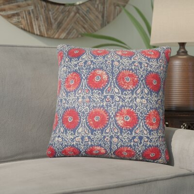 Arroyo Grande Floral Linen Throw Pillow Color: Red/Blue