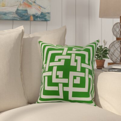 Crider Greek New Key Geometric Print Indoor/Outdoor Throw Pillow Color: Green, Size: 18 x 18