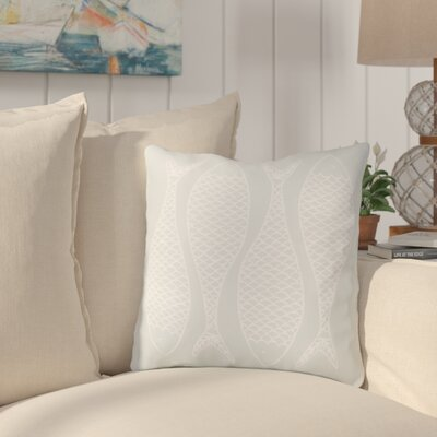 Cannaday Fabulous Fish Outdoor Throw Pillow Size: 20 H x 20 W x 4 D, Color: Sky Blue