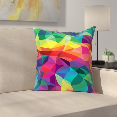 Joe Van Wetering Color Shards Throw Pillow Size: 18 x 18