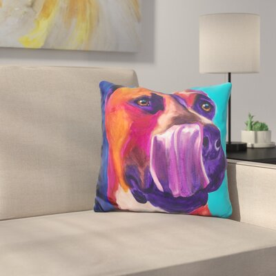 Pit Bull Tasty Throw Pillow