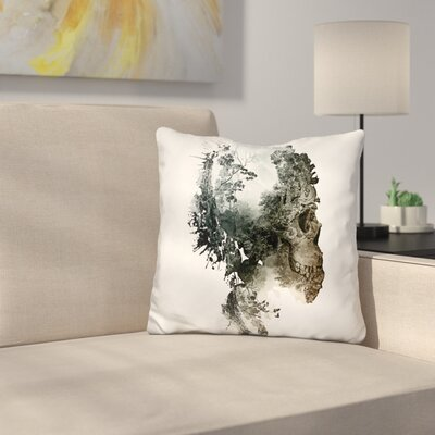 Skull Metamorphosis Throw Pillow