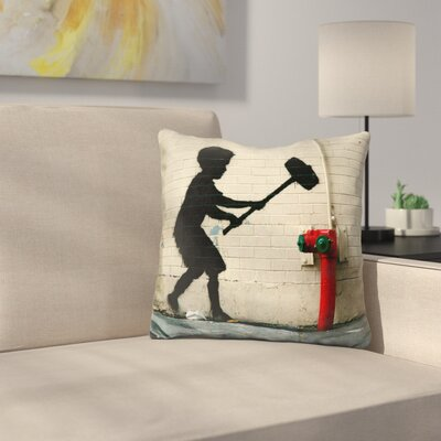 Hammer Boy Throw Pillow