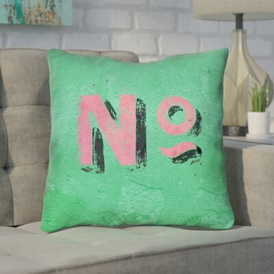 Enciso Graphic Wall 100% Cotton Throw Pillow Size: 16 x 16, Color: Green/Pink