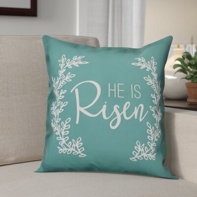 Bissell He is Risen Throw Pillow