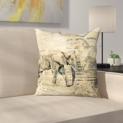 Elephant Throw Pillow Size: 14 x 14