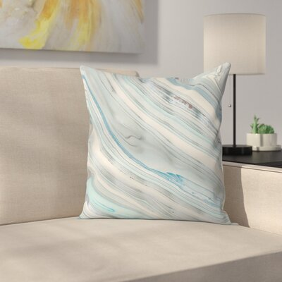 Marble Throw Pillow Size: 14 x 14