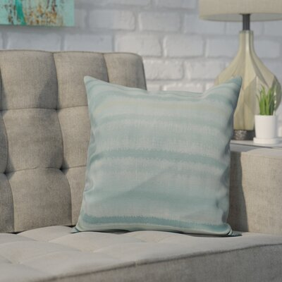 Dorazio Raya De Agua Indoor/Outdoor Throw Pillow Size: 16 H x 16 W, Color: Aqua