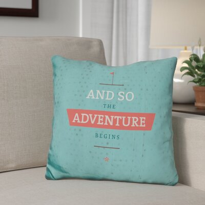 Gidley The Adventure Begins Throw Pillow