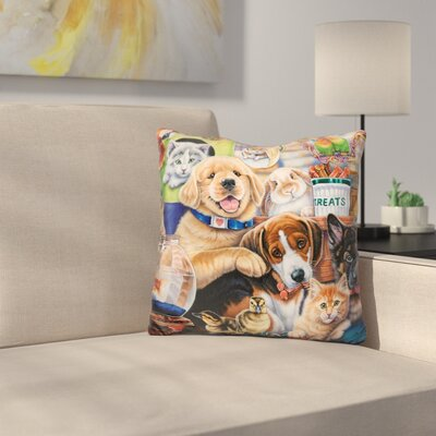 Pet Shop Throw Pillow