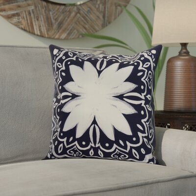 Crisler Print Indoor/Outdoor Throw Pillow Color: Navy Blue, Size: 18 x 18